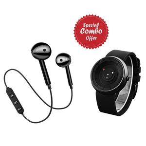 Buy Refurbished - PTronAvento Wireless Bluetooth Headset , Get DaZon Arrow Sports Silicon Wrist Watch  Free