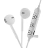 PTron Avento Bluetooth Headphones In-Ear Wireless Earphones With Mic For All Smartphones (White)
