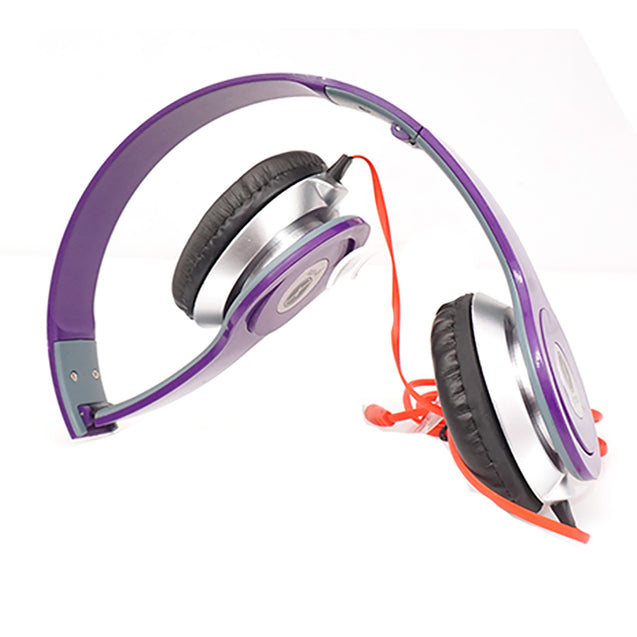 Xmate High Quality Stereo Headphones with 3.5mm Jack For All Smartphones (Purple)