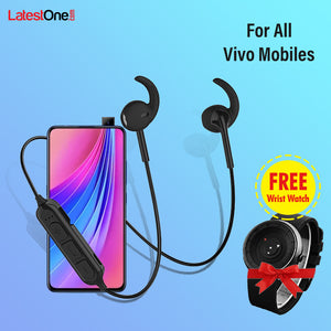 Buy PTron Avento Pro Bluetooth 5.0 Headphones With TF Slot For All Vivo Mobiles, Get Arrow Watch Free Gift
