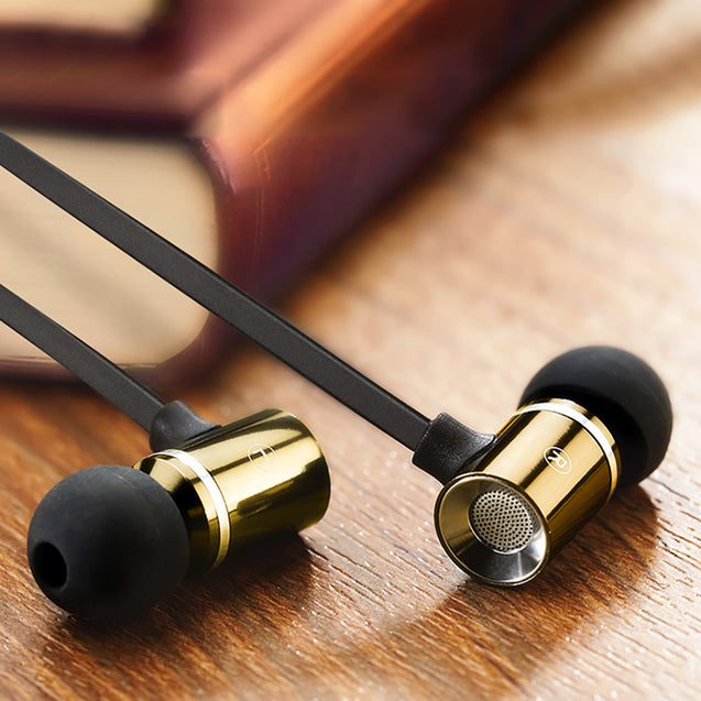 PTron Unison In-Ear Headphone With Noise Cancellation For All Smartphones (Gold)