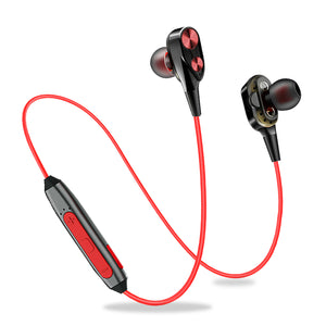 Refurbished- PTron BT Boom 4D Bluetooth Headphones With Mic For All Smartphones (Red & Black)