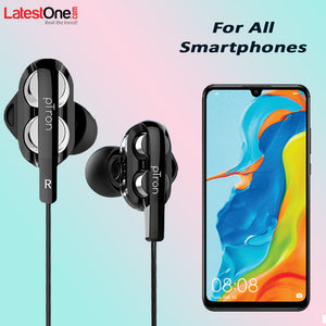 PTron Boom 3 4D Deep Bass Stereo Earphones Dual Driver Sports Headset with Mic for All Smartphones