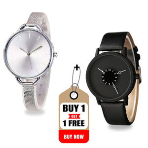 Buy DaZon Astro Unisex Wrist Watch With Rotatable Scale Dial , Get DaZon Arc Ladies Watch Free
