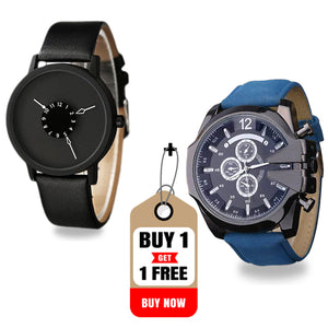 Buy DaZon Astro Unisex Watch With Rotatable Scale Dial , Get DaZon Snazz Men's Watch Free