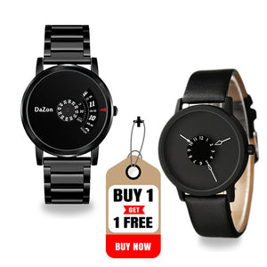 Buy DaZon Orb Turntable Dial Men's Watch , Get Dazon Astro Rotatable Scale Dial Unisex Watch Free