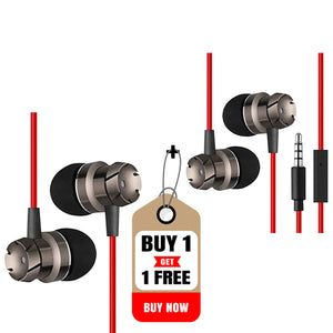 Buy  PTron HBE6 Metal Bass In-Ear Earphone ,Get HBE6 Metal Bass Earphone Free
