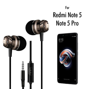 PTron HBE6 Earphone Metal Bass Headphone With Mic For Xiaomi Redmi Note 5/ Note 5pro (Black)