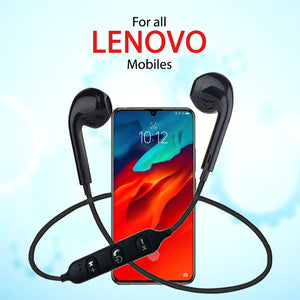 PTron Avento Bluetooth Headphones In-Ear Wireless Earphones For All Lenovo Smartphones (Black)
