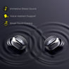 pTron Bassbuds Urban True Wireless Stereo Headphones with Deep Bass, Touch Control & Mic (Black)