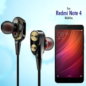 PTron Boom Evo 4D Earphone Deep Bass Stereo Wired Headphone With Mic For Redmi Note 4 (Black/Gold)