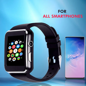 PTron Rhythm Curved Bluetooth Smart Watch With Camera Support Wrist Watch For All Smartphones Black