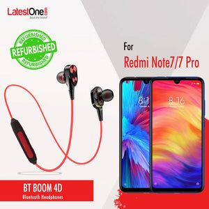Refurbished- PTron BT Boom 4D Bluetooth Headphones With Mic For Redmi Note 7/ Note 7 Pro  (Red & Black)