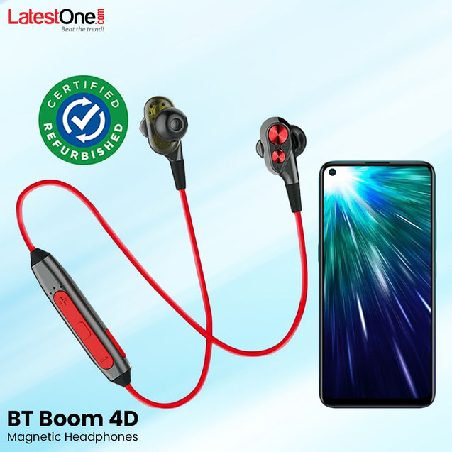 Refurbished- PTron BT Boom 4D Bluetooth Headphones With Mic