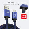 PTron Indigo USB To Micro USB Data Cable Jeans Cloth Sync Charging Cable For All Android Smartphones