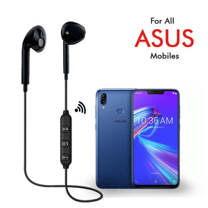 PTron Avento Bluetooth Headphones In-Ear Wireless Earphones With Mic For All Asus Smartphones