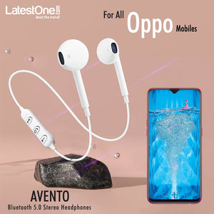 PTron Avento Bluetooth Wireless In-Ear Headphones With Mic For All Oppo Smartphones (White)