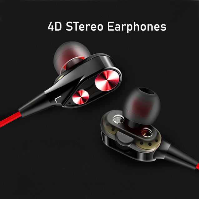 Refurbished- PTron BT Boom 4D Bluetooth Headphones With Mic For Vivo S1/S1 Pro (Red & Black)