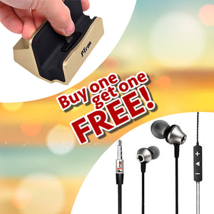Buy HBE9 Headphone Stereo In Ear Earphone ,Get PTron Cradle Docking Station Charger Free