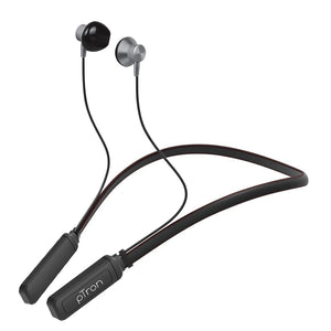 pTron InTunes Plus In-Ear Magnetic Wireless Headphones with Mic - (Grey/Black)