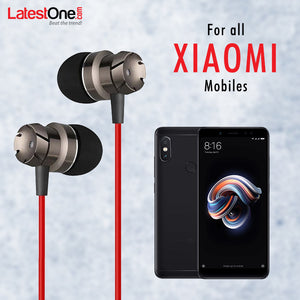 PTron HBE6 Metal Bass Earphone With Mic For  Xiaomi Redmi Smartphones (Black \Red)