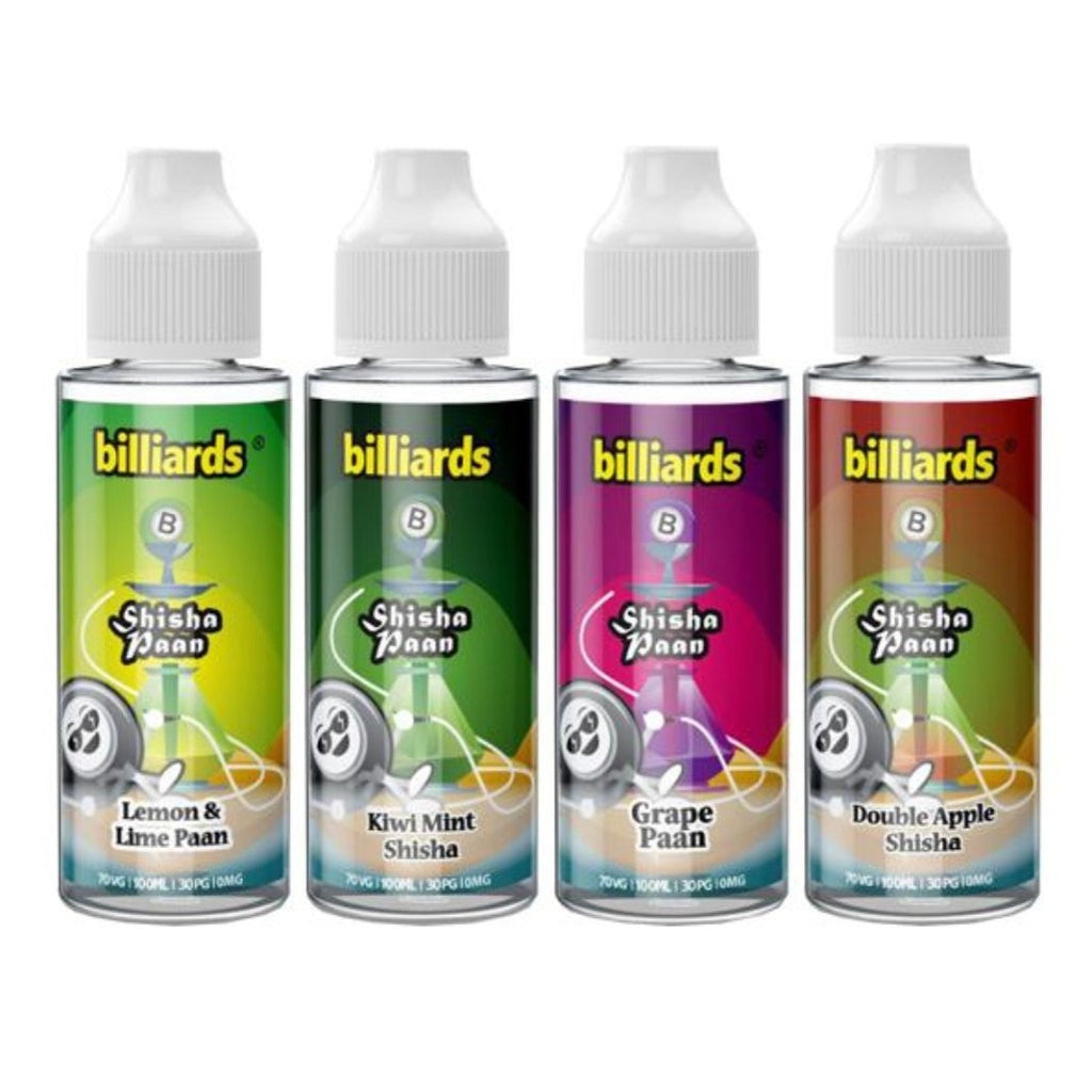 Billiards Shisha 100ml, includes 2 nic shots