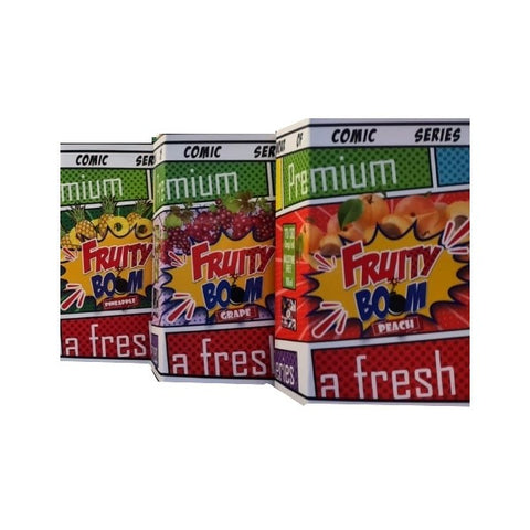 Fruity Boom (100ml) includes 2 nic shots plus 1 ice shot  TOP SELLER