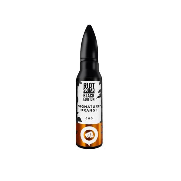 Riot Squad Black Edition Range 0mg 50ml Shortfill (70VG/30PG)   includes nic shot