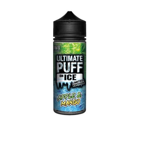 Ultimate Puff On Ice 0mg 100ml Shortfill (70VG/30PG) includes 2 nic shots
