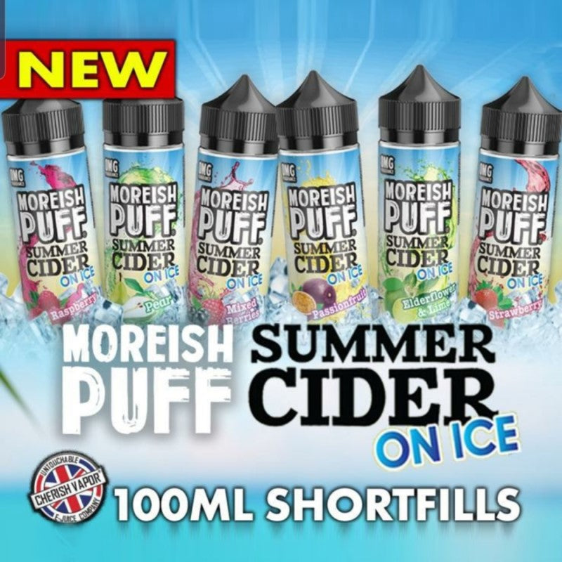 Moreish Puff - Summer Cider on Ice 100ml  includes 2 nic shots
