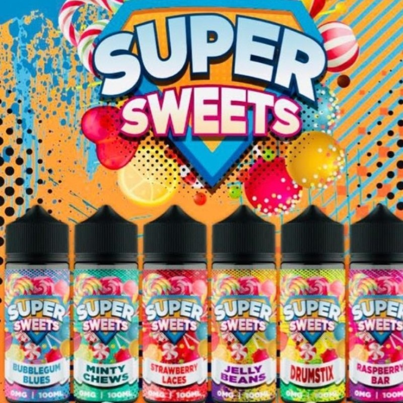 Super Sweets 100ml includes 2 nic shots, use code SODAKING for free postage of entire order when purhasing this product
