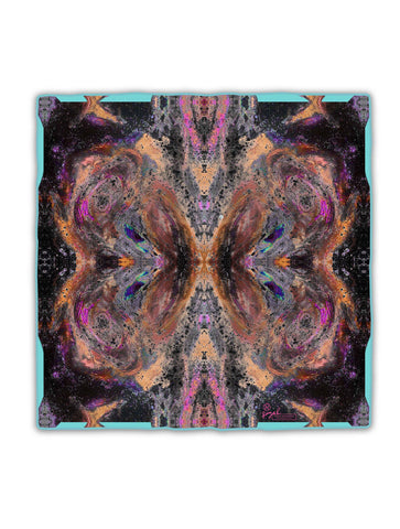 OCTAHEDRON SILK SCARF : PURPLE