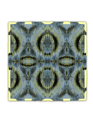 OCTAHEDRON SILK SCARF : YELLOW