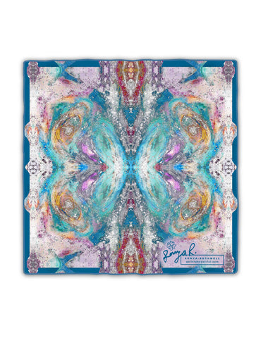 MANASLU SILK SCARF : TWILIGHT PINK