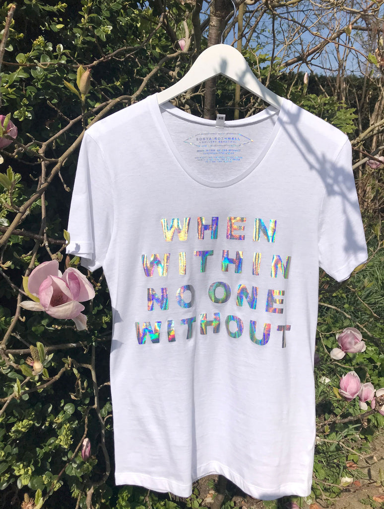 SONYA ROTHWELL HOLOGRAPHIC 'WITHIN' T-SHIRT