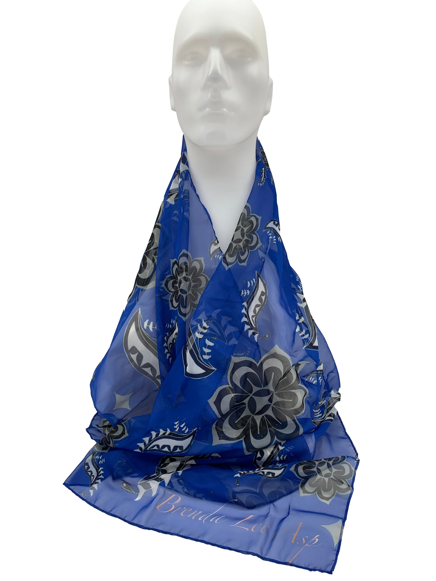 Indigenized Paisley Chiffon Scarf by Brenda Lee Asp