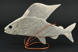 Arctic Grayling Carving by Dennis Shorty