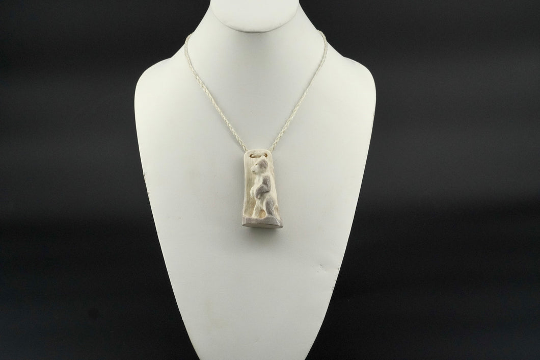 Bear Standing Carved Necklace