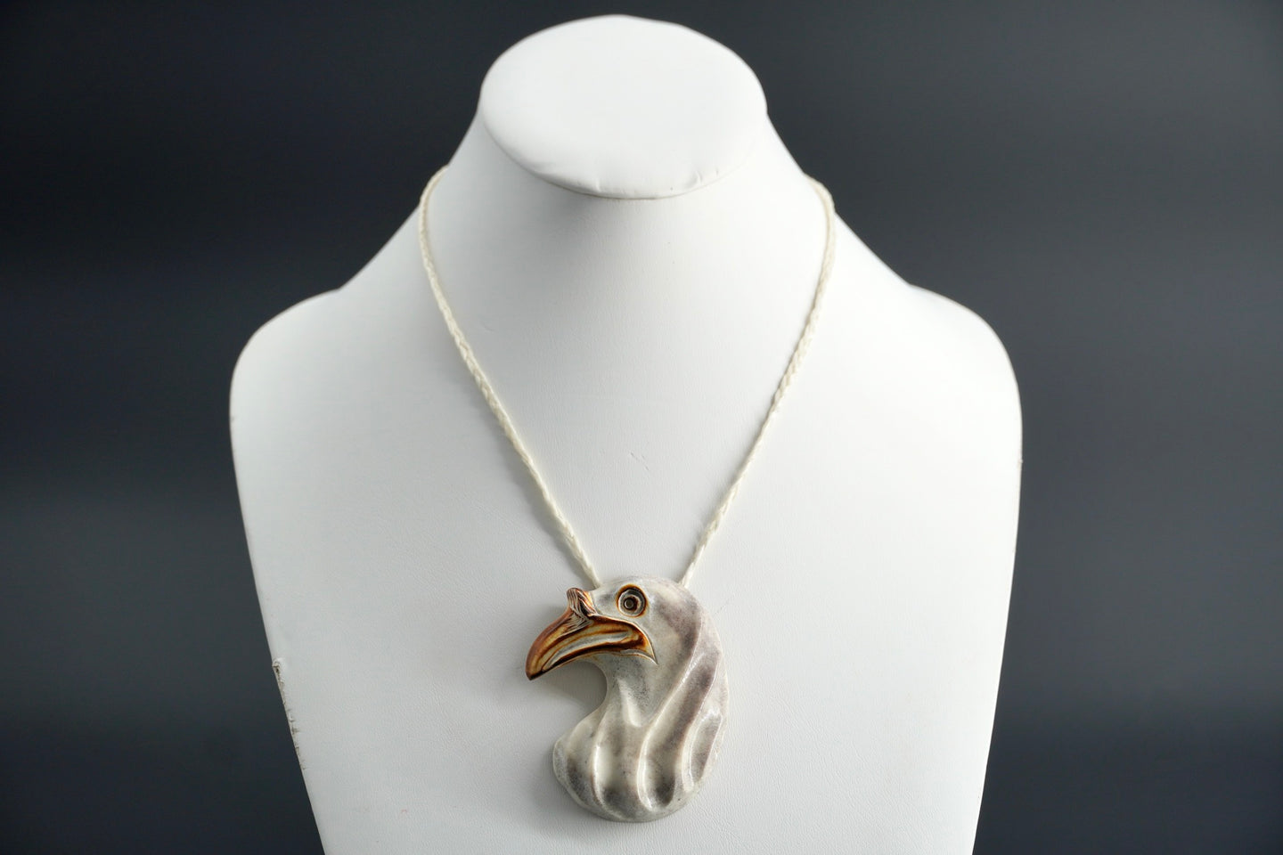 Crow Head Necklace by Dennis Shorty