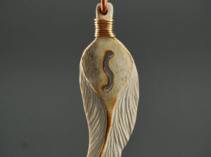 Feather Guitar Pendant by Dennis Shorty