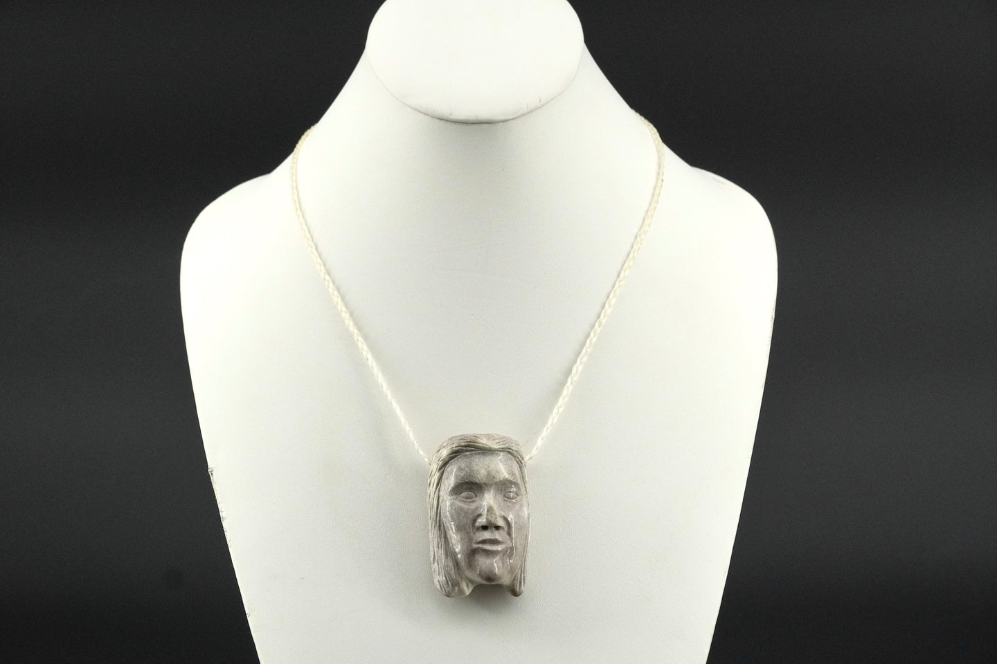 Grandma Mask Necklace by Dennis Shorty