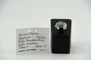 Silver Ring with Turquoise by Dennis Shorty