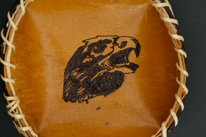 Birch Basket with Woodburn Eagle by Christine Sam