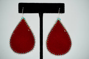 Quartzite Teardrop Earrings by Teresa Vander Meer-Chassé