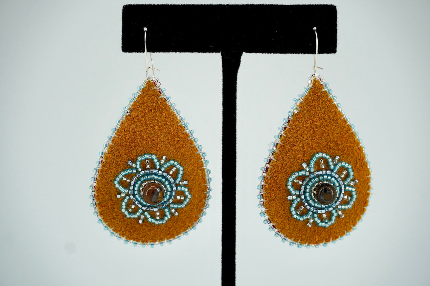 Tigereye Teardrop Earrings by Teresa Vander Meer-Chassé