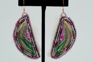 Fireweed Earrings by Justien Senoa Wood