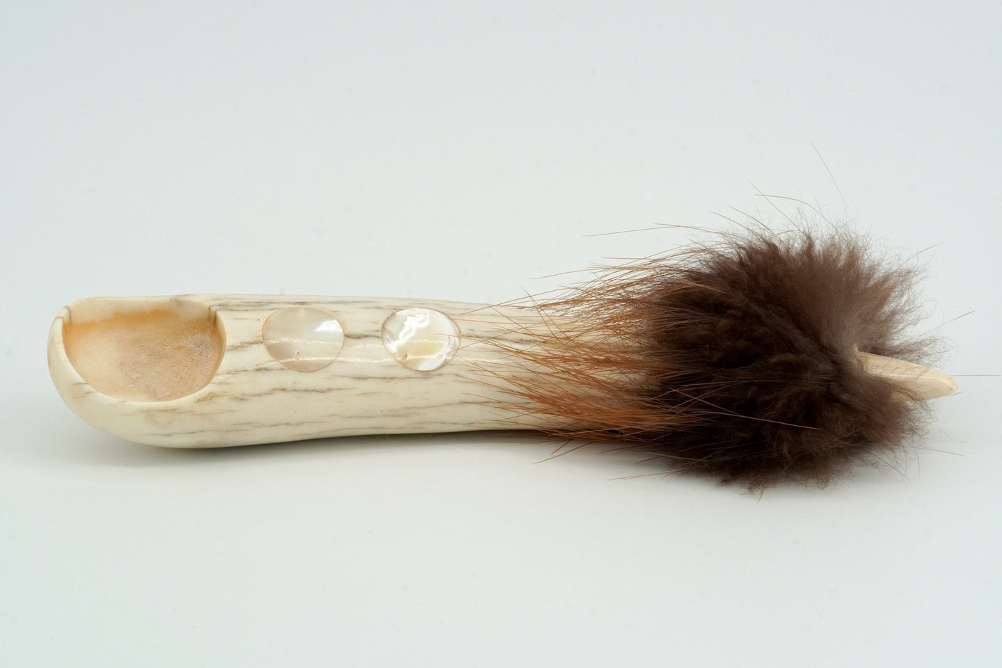 Carved Antler Spoon by Naomi Crey