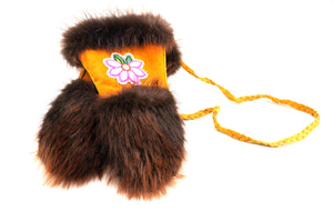Beaver Fur Mittens by Shirley Smith