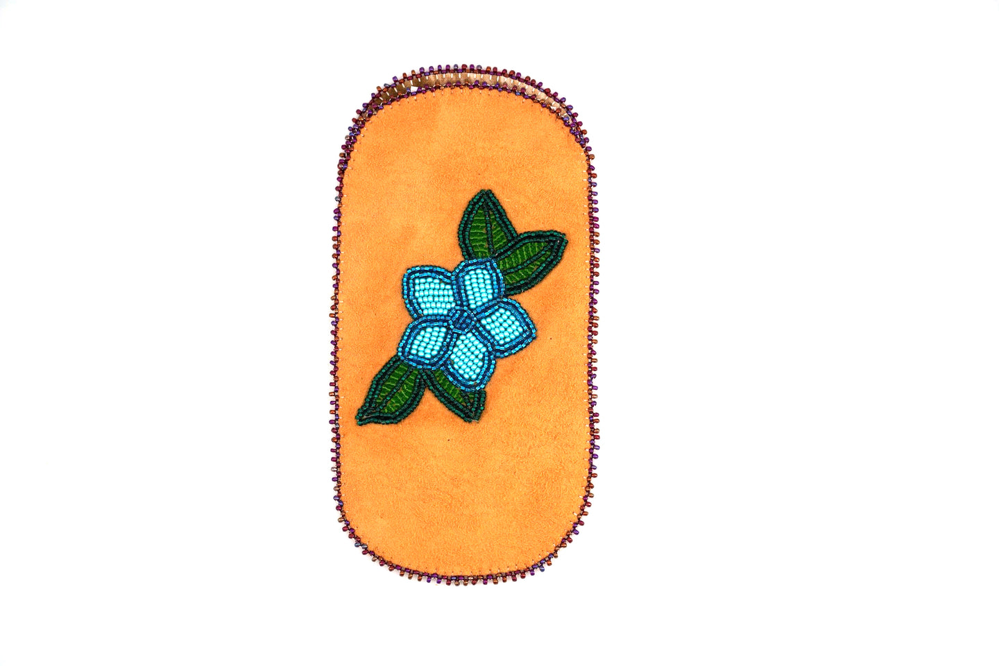 Beaded Glasses Case by Virginia Smith