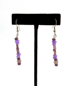 Purple Talking Stick Earrings by Temira Vance
